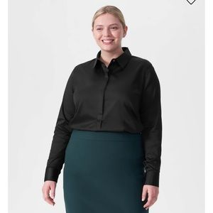 Universal Standard Elbe Black Shirt